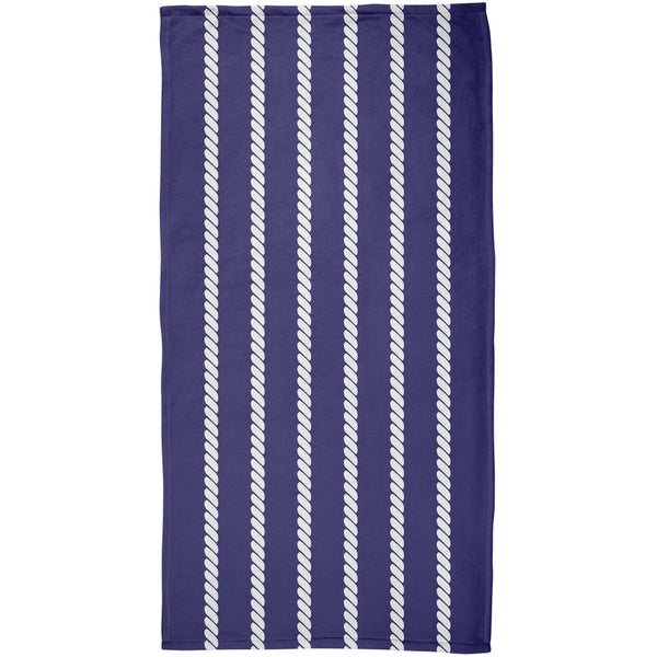 Summer - Nautical Rope All Over Beach Towel