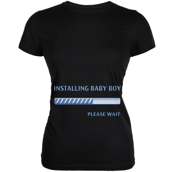 Installing Baby Boy Funny Black Juniors Soft T-Shirt