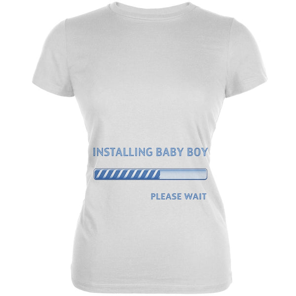 Installing Baby Boy Funny White Juniors Soft T-Shirt