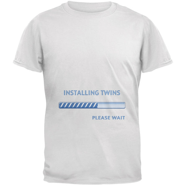 Installing Twin Boys Funny White Adult T-Shirt