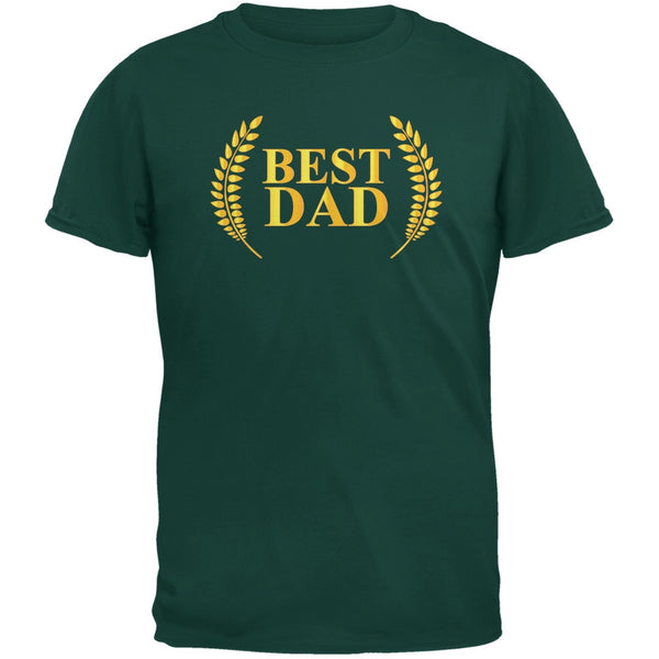 Fathers Day - Best Dad Laurel Forest Green Adult T-Shirt