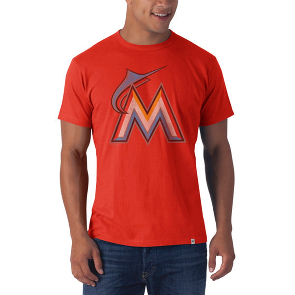 Miami Marlins - Large M Logo Flanker Orange Premium T-Shirt
