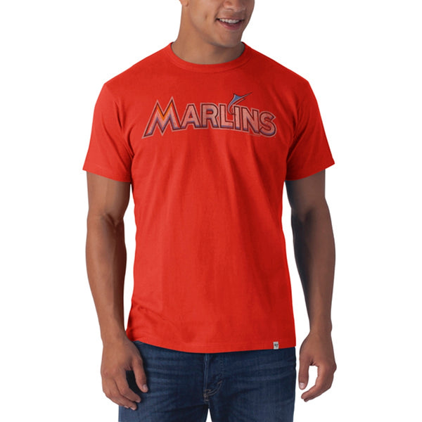 Miami Marlins - Name Logo Flanker Orange Premium T-Shirt