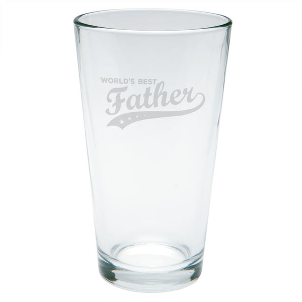 Father's Day - World's Best Father Etched Pint Glass