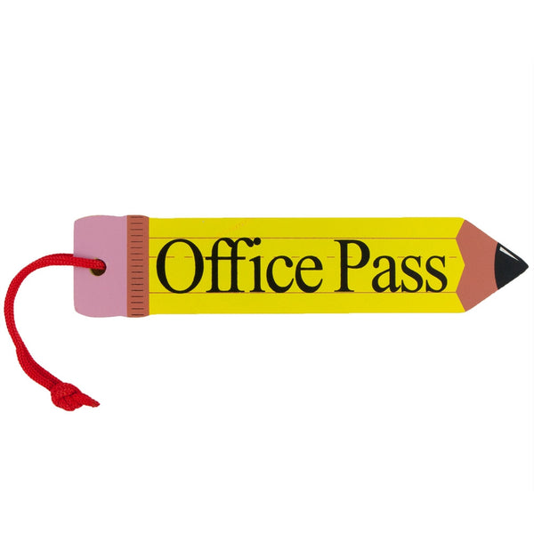 Office Hall Pass Wooden Pencil