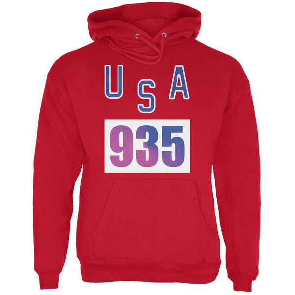 Team Bruce Jenner USA 935 Olympic Costume Red Adult Hoodie