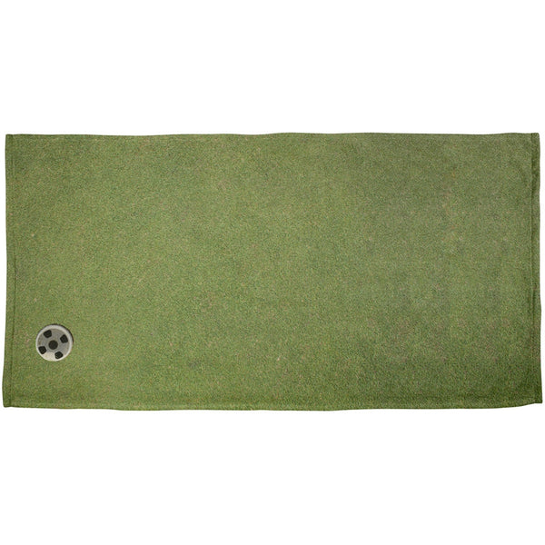 Father's Day - Golf Putting Green All Over Beach Towel