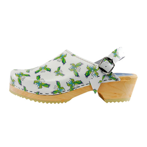 Torpatoffeln Sweedish Ovarian Butterfly Awareness Clogs