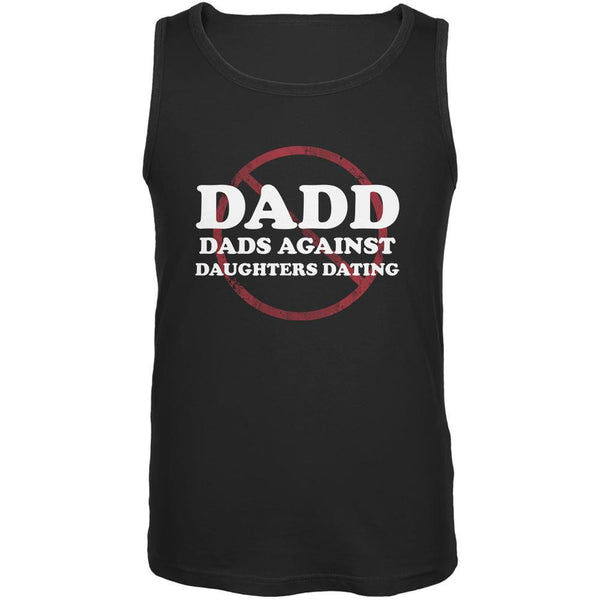 Father's Day DADD Dads Against Daughters Dating Black Adult Tank Top
