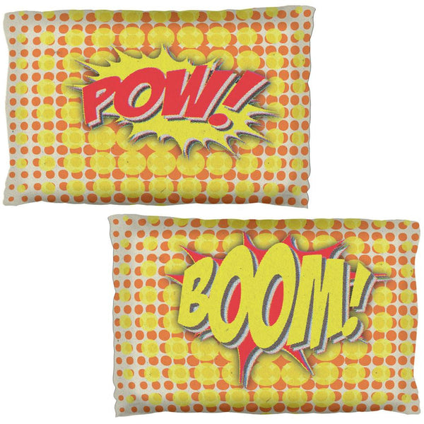 BOOM POW Comic Book Super Hero Pillow Case Set