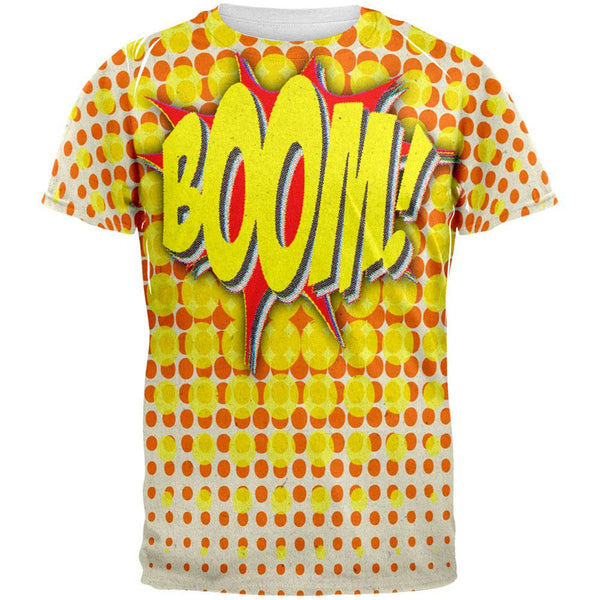 BOOM Comic Book Super Hero All Over Adult T-Shirt