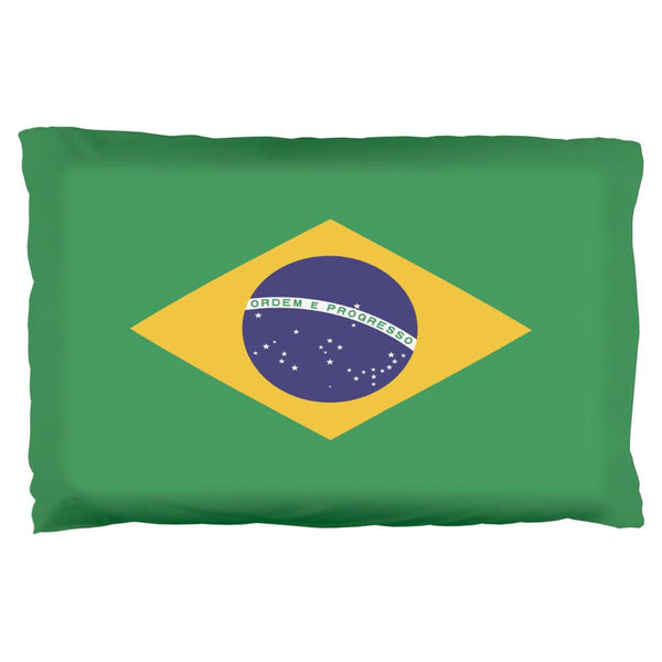 Brazil Flag Pillow Case