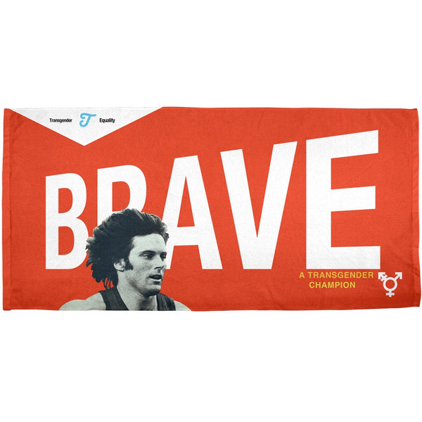 Bruce Jenner Brave Cereal Box - All Over Bath Towel