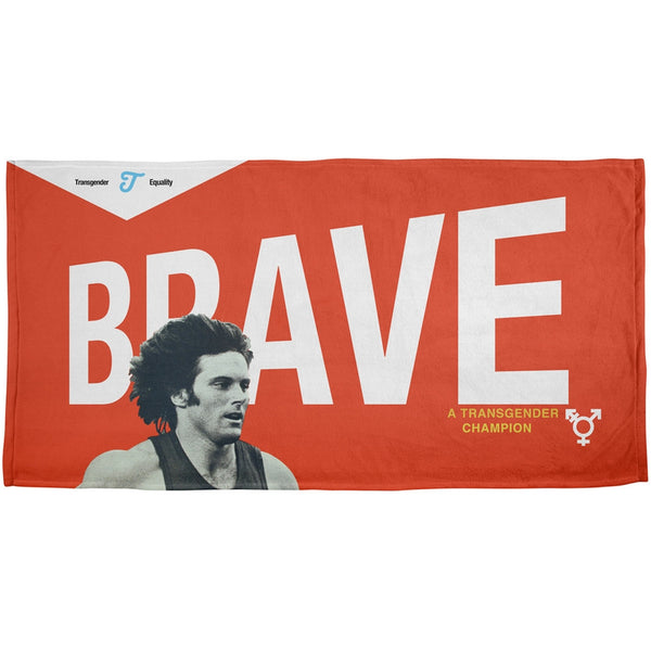Bruce Jenner Brave Cereal Box - All Over Beach Towel