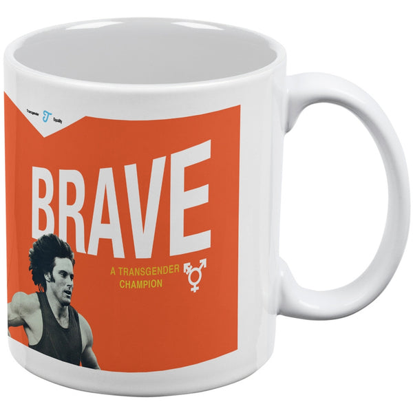 Bruce Jenner Brave Cereal Box - White All Over Coffee Mug
