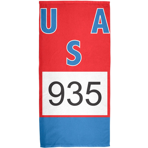 Bruce Jenner Decathalon Jersey - All Over Bath Towel