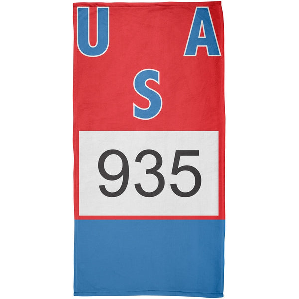 Bruce Jenner Decathalon Jersey - All Over Beach Towel