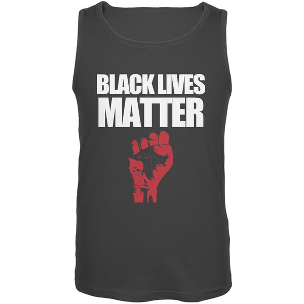 Black Lives Matter Charcoal Grey Adult Tank Top
