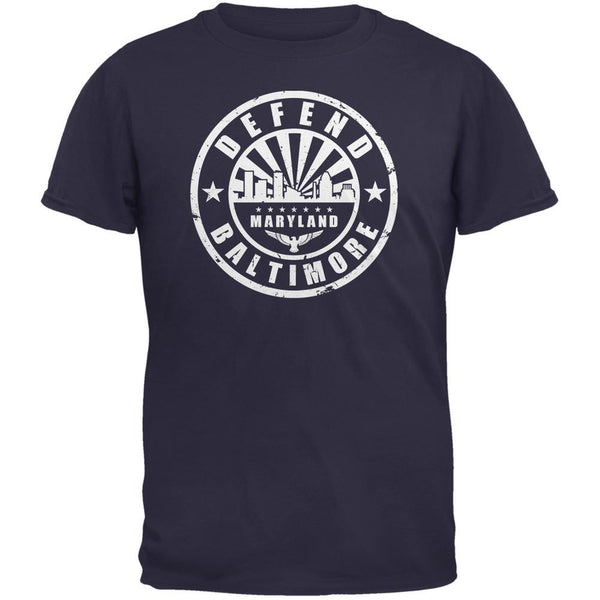 Defend Baltimore Navy Adult T-Shirt