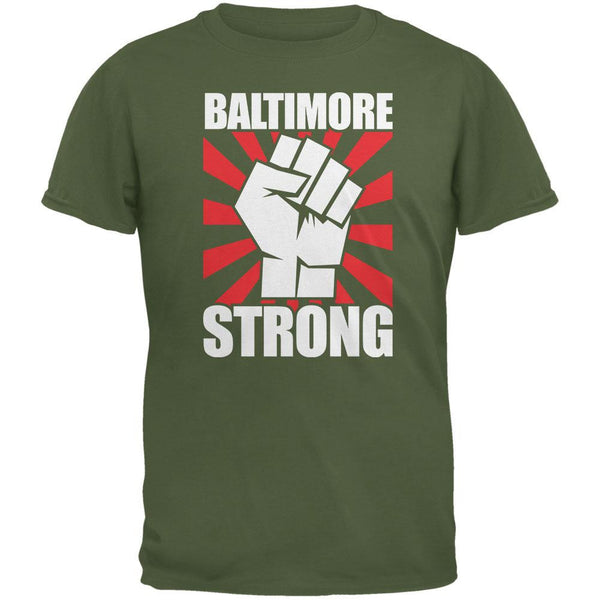 Baltimore Strong Military Green Adult T-Shirt