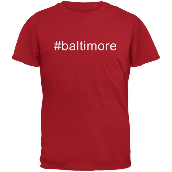 #baltimore Red Adult T-Shirt
