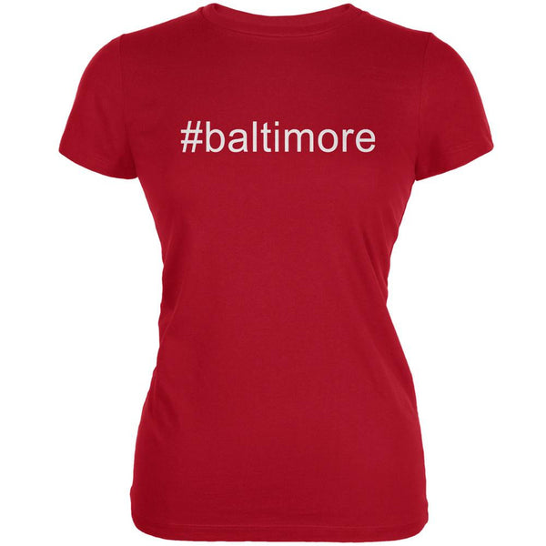#baltimore Red Juniors Soft T-Shirt