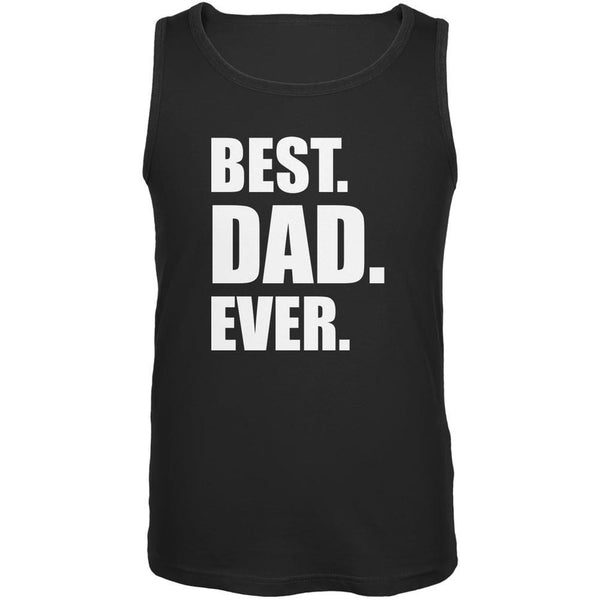 Father's Day Best Dad Ever Black Adult Tank Top