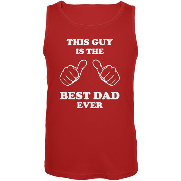 Father's Day This Guy Best Dad Ever Red Adult Tank Top