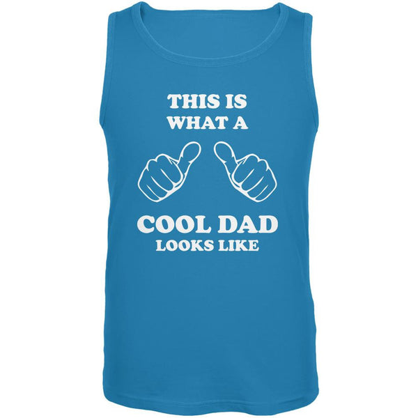 Father's Day - What a Cool Dad Looks Like Turquoise Adult Tank Top