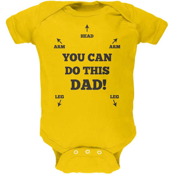 Father's Day You Can Do This Dad Yellow Soft Baby One Piece