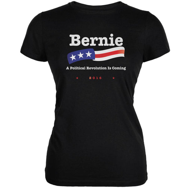 Election 2016 Bernie Sanders Revolution Black Juniors Soft T-Shirt
