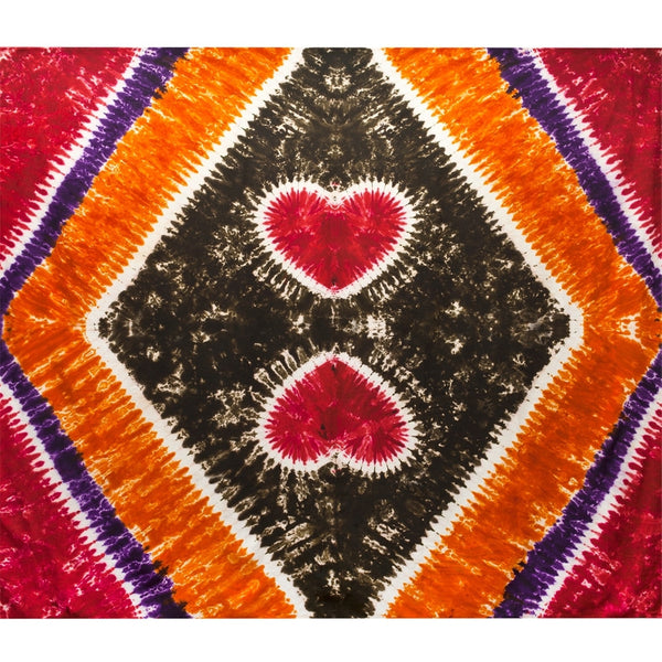 Tie Dye Hearts - Full Tapestry