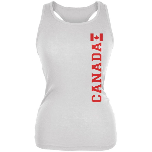World Cup Canada White Juniors Soft Tank Top