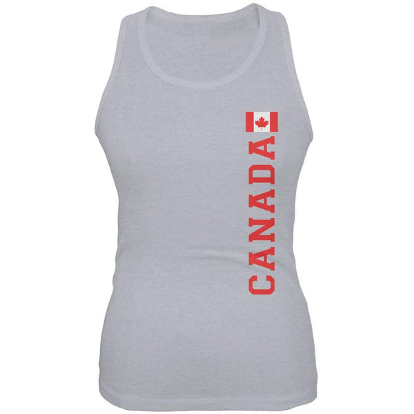 World Cup Canada Heather Grey Juniors Soft Tank Top