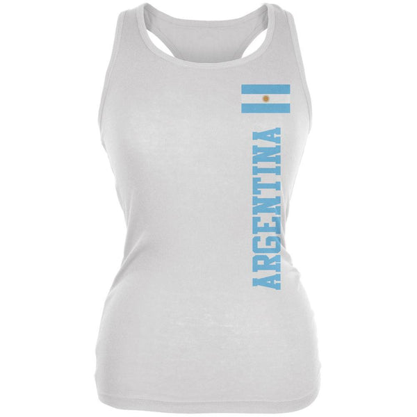 World Cup Argentina White Juniors Soft Tank Top
