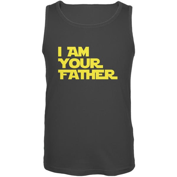 Fathers Day - I Am Your Father Charcoal Grey Adult Tank Top