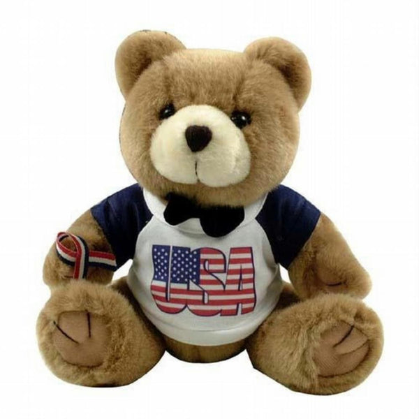 Patriotic Brown Teddy Bear