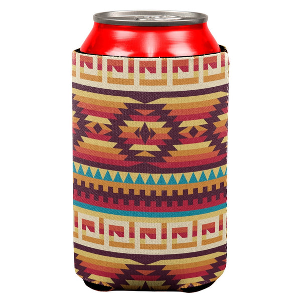 Native American Pattern All Over Can Cooler