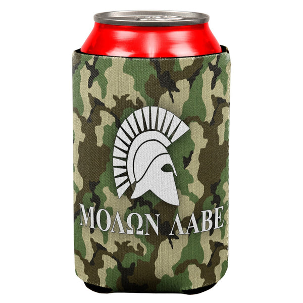 Molon Labe Helmet Jungle Camo All Over Can Cooler
