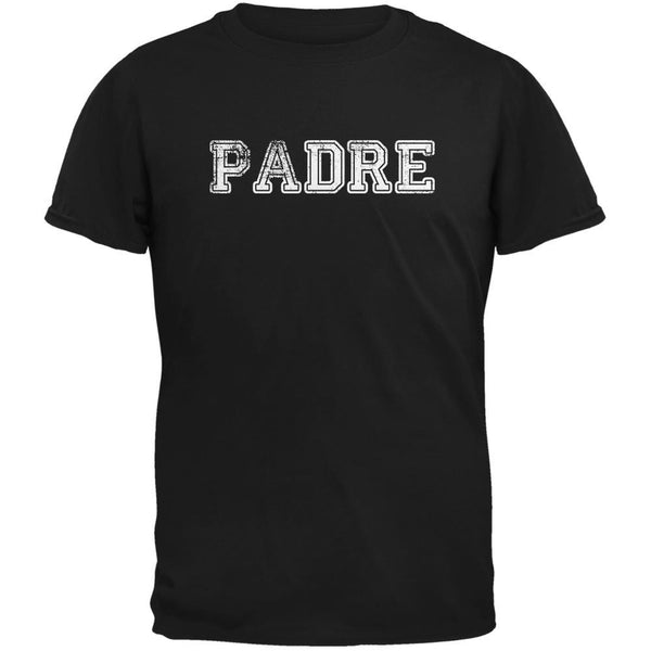 Fathers Day - Padre Black Adult T-Shirt