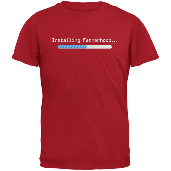 Fathers Day Installing Fatherhood Red Adult T-Shirt