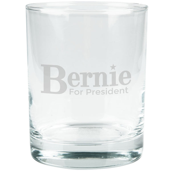 Election 2016 - Bernie Sanders for President Etched Glass Tumbler