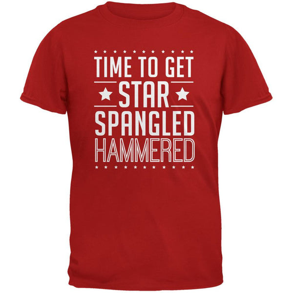 Time to get Star Spangled Hammered Red Adult T-Shirt