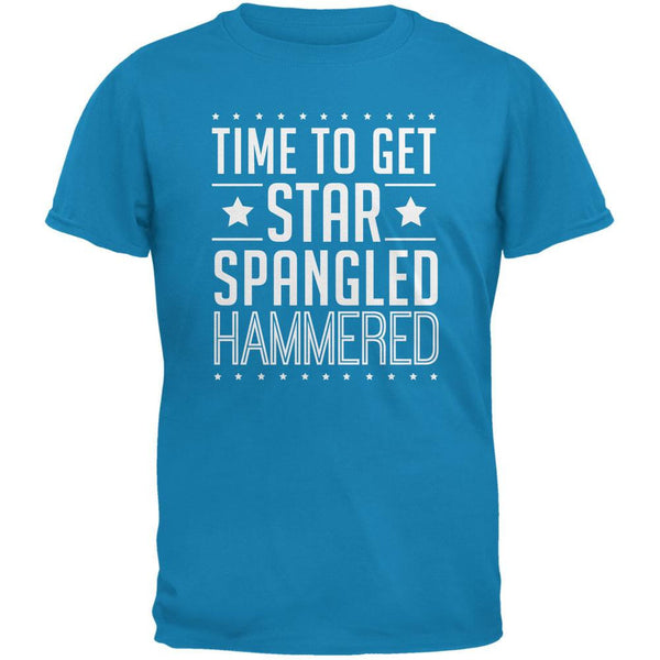 Time to get Star Spangled Hammered Sapphire Blue Adult T-Shirt