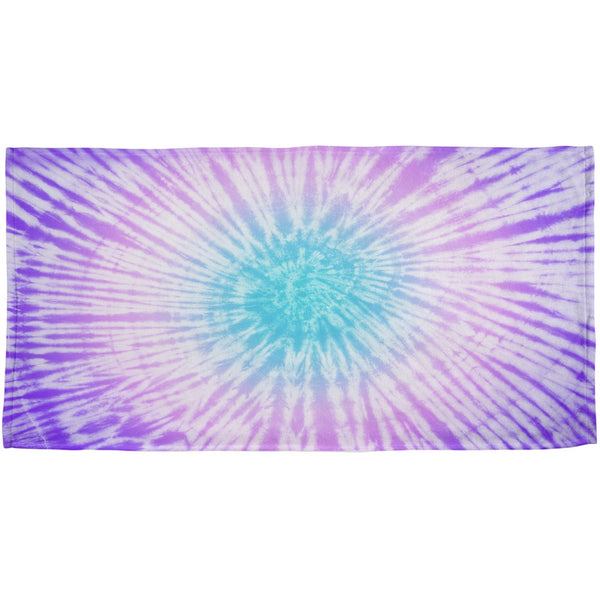 Dead Head Tie Dye All Over Beach Towel