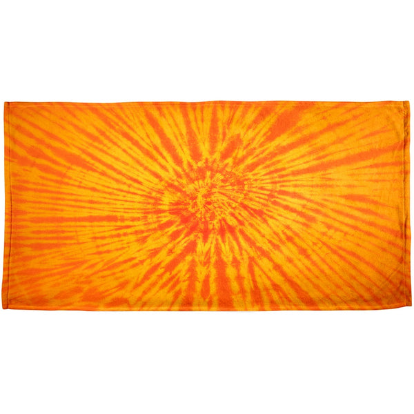 Sunrise Tie Dye All Over Beach Towel