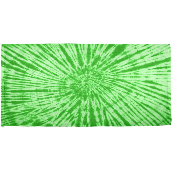 Green Tie Dye All Over Bath Towel