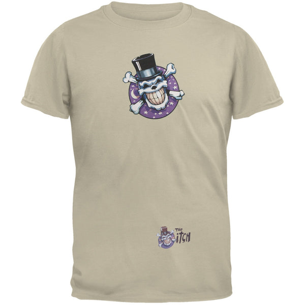 Skull & Crossbones Top Hat Logo Tan Adult T-Shirt