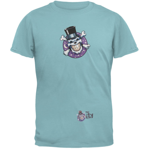 Skull & Crossbones Top Hat Logo Teal Adult T-Shirt