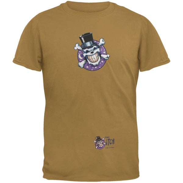 Skull & Crossbones Top Hat Logo Rust Adult T-Shirt